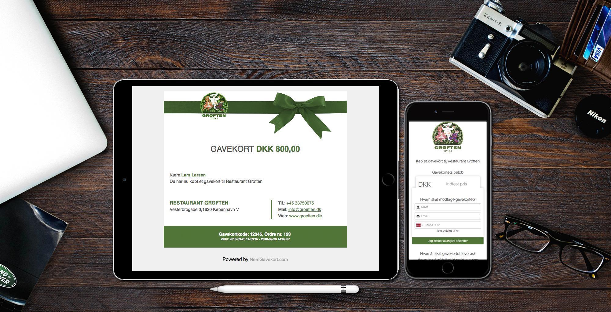 Digitale Gavekort